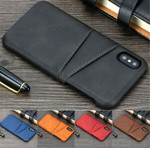 For iPhone 12 mini 12 Pro Max 11 XR XS 8 Max Wallet Card Slot Leather Case Cover