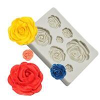 3D Rose Flower Silikon Fondant Schokoladenform Kuchen Dekor Sugarcraft Mould