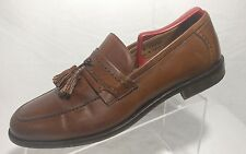 Johnston Murphy Italy Brown Leather Moc Toe Tassel Dress Loafer Shoe Mens 10.5 M