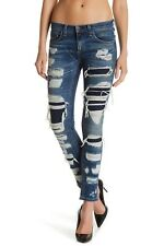 $325 Rag & Bone Jean DRE Boyfriend Skinny in Ada Brigade Destroyed & Patched 24
