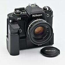 Nikon FG 35mm SLR Film Camera with MD-14 Grip and Nikkor AiS 50mm f/1.8 Lens