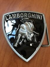 Italian Car Raised Emblem LAMBORGHINI Metal Belt Buckle New