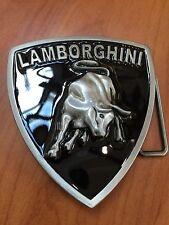 Italian Car Raised Emblem LAMBORGHINI Metal Belt Buckle New