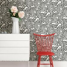 Woodland Meadow Animals Wallpaper by A Street Prints - Grey FD22729