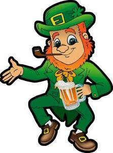 Drinking and Dancing Leprechaun, St. Patrick's Day Spring Holiday Metal Sign