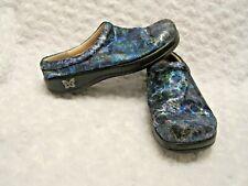 Alegria Blue Metallic Floral Nursing Clogs Fond of You Shoes Kay-264 EUR 39 US 9