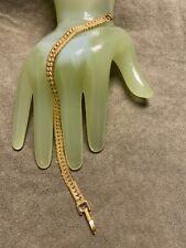"Style Bracelet Marked Monet - M Vintage 7 1/2"" Goldtone Flat Chain"