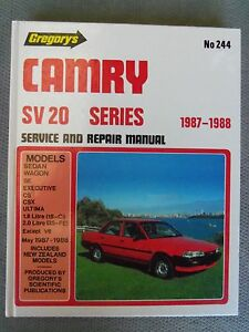 TOYOTA CAMRY SV20  SERIES WORKSHOP MANUAL 1987/88 EXCELLENT CONDTION!!