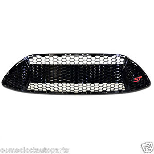 NEW OEM 13-14 Ford Focus ST Front Radiator Grille w/ Emblem, Gloss Black - USDM