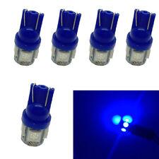 5Pcs Blue T10 W5W Interior 5SMD LED Car Auto Light bulbs 2825 158 192 168 194