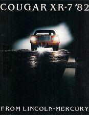 Mercury Cougar XR-7 1982 USA Market Sales Brochure GS LS