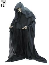 HALLOWEEN HORROR SCHELETRO MALLEABILE 160cm DECORAZIONI REALE MORTE NERA  ADDIO