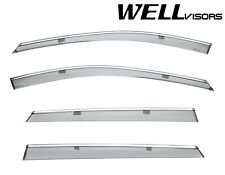 For 16-Up Mazda CX-9 WellVisors Side Window Visors Deflectors W/ Chrome Trim