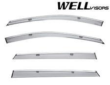 For 16-Up Mazda CX-9 WellVisors Side Window Visors Deflectors W/ Chrome Trim