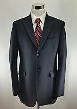 THEORY Men's Two Button Beaded Stripe Suit Jacket Size 42L Black