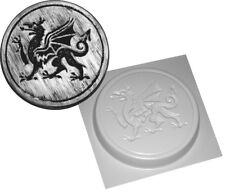 WELSH DRAGON STEPPING STONE MOULD GARDEN CONCRETE MOLD ABS PLASTIC REUSABLE NEW