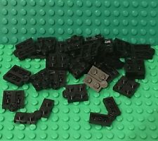 Lego X25 Black Hinge Plate 1x4 Swivel Top / Base Complete Assembly Bulk Lot