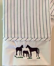 Grazing Horse Embroidered Standard Size Pillow Case