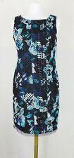 Antonio Melani  Net Black Teal Anastasia Sleeveless Sheath Dress Size 4 6 ($169)