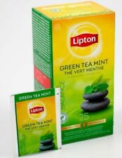 Lipton Green Tea Mint 1 Box Of 25 Supplied Free UK Delivery