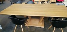 XDisplay Harvey Morman Dining Table & 6 Eames daw chairs in Natural Oak ORP$1999