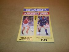 Oldham Athletic v Manchester United in 1990 FA Cup Semi-Final at Maine Road