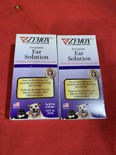 New listing Two Zymox Ear Solution Hydrocortisone 0.5% Inflammation Relief 1.25 oz each