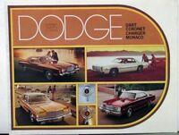 1975 Dodge Dart Coronet Charger Monaco Color Sales Brochure Original