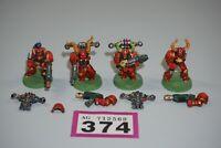 Warhammer 40k Chaos Space Marines x 4 Metal LOT 374