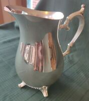 "Vintage ""Wm Rogers 817""  Silver Plate Footed 1/2 Gal Pitcher"