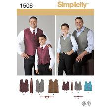 Simplicity SEWING PATTERN 1506 Husky Boys/Big & Tall Mens Waistcoat,Tie,Bow Tie
