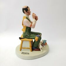 Norman Rockwell Porcelain Figurines Man Threading a Needle Porcelaine Japan