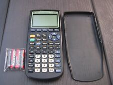 Texas Instruments Ti-83 Plus Graphing Calculator Black With Cover, New Batteries