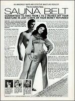 1970 Sauna Belt woman man retro classic exercise vintage photo print Ad ads32