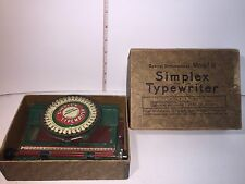 Antique SIMPLEX TYPERWRITER SPECIAL DEMONSTRATED MODEL B with Box Early 1900's