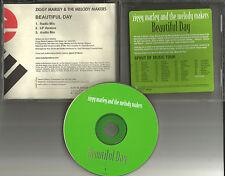 ZIGGY MARLEY beautiful Day w/ RARE RADIO MIX & AUDIO BIO PROMO DJ CD single BOB