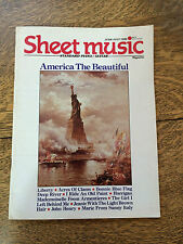 Sheet Music Magazine 1986 Back Issues Lot of 5 Piano Guitar Tablature Vintage