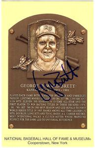 George Brett Autographed Signed HOF Postcard Kansas City Royals JSA M36039