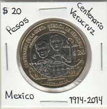 Mexico: $ 20 Pesos CENTENARIO DE LA GESTA HEROICA DE VERACRUZ 1914-2014.