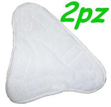 SET 2 PANNI MICROFIBRA PER SCOPA A VAPORE X5 H2O MOP H20  CON VELCRO PAVIMENTO
