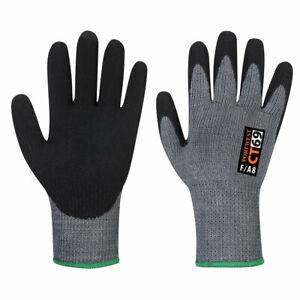 Portwest CT69 CT AHR+ Nitrile Foam Coated Cut Protection Grip Work Gloves 12 Pck