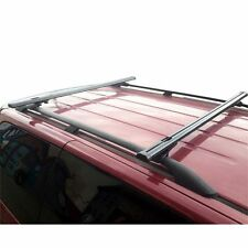 """Black Factory Roof Rail Clamp-On Ladder Van Rack 50"""" bar with endcaps"""