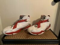 Air Jordan Retro 8 White And Red Size 13