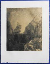 REDON Odilon (1840-1916)  - Soleil Couchant - Gravure et pochoir signée #1950