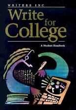 Write for College: Write for College : Softcover College Handbook by Verne Meye…