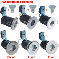4X Fire Rated/IP65 Bathroom LED GU10 Main Recessed Ceiling Spotlight/5W SMD Bulb