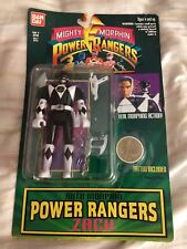 BANDAI POWER RANGER ZACH AUTO MORPHIN ACTION FIGURE ON CARD 1994