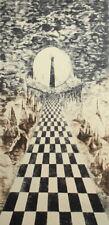 Vintage surrealist landscape print