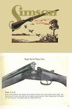 Simson 1927 Arms Company Catalog Suhl, Germany