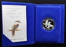 1989 BIRDS OF AUSTRALIA Kookaburra Sterling Silver $10 Proof Coin